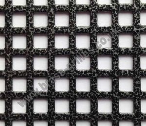 Small Squares 6mm Pewter Grille Powder Coated Steel Sheet 1000mm x 660mm x 1mm